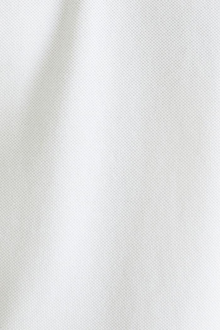Piqué-Poloshirt aus 100% Pima Cotton, WHITE, detail image number 4