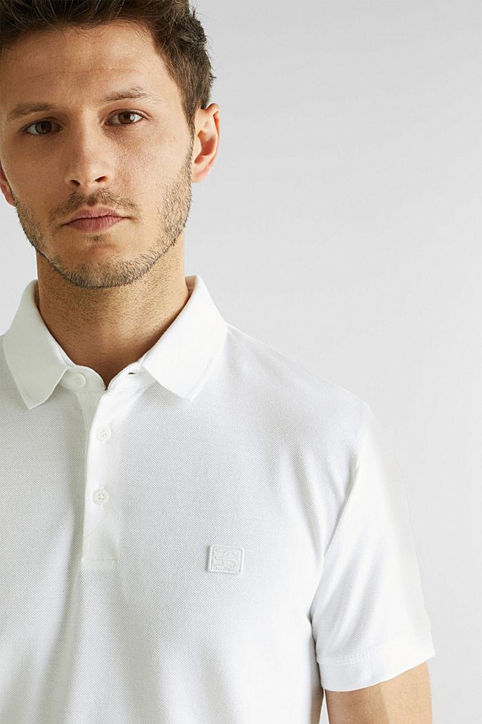 Piqué-Poloshirt aus 100% Pima Cotton, WHITE, detail image number 6