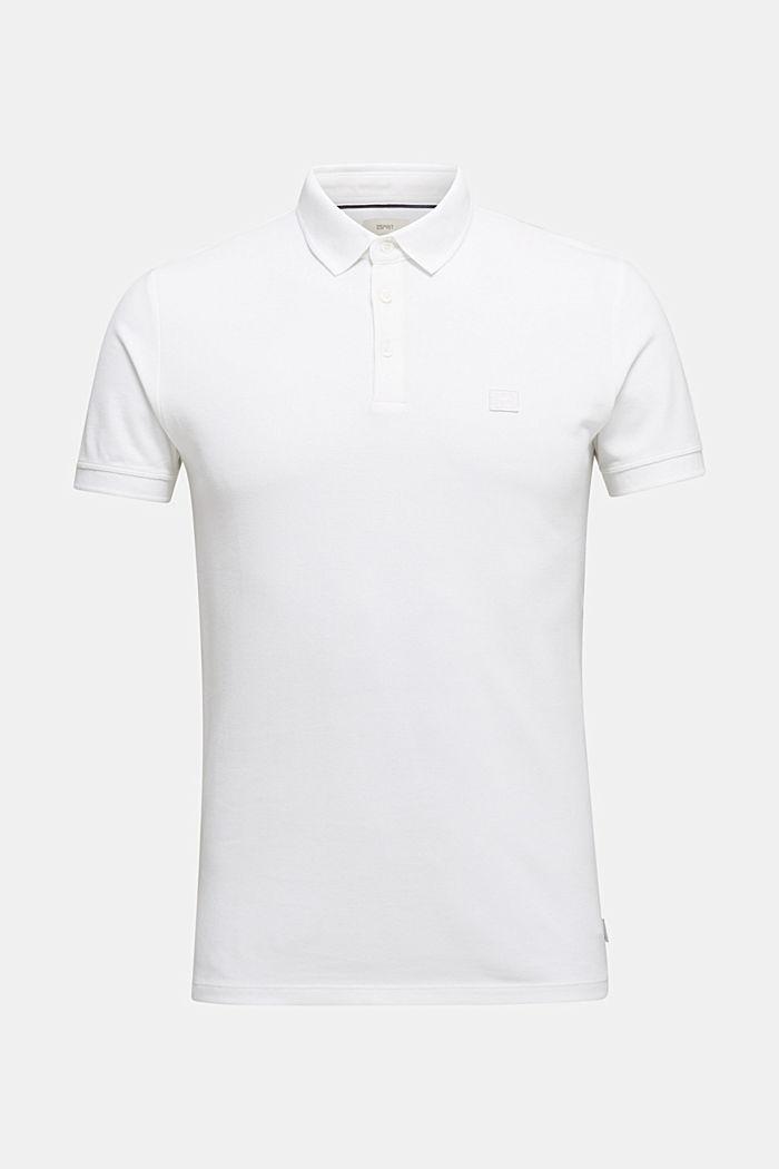 Piqué-Poloshirt aus 100% Pima Cotton, WHITE, detail image number 7