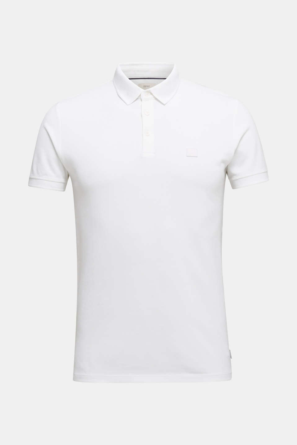 Piqué polo shirt made of 100% pima cotton, WHITE, detail image number 7