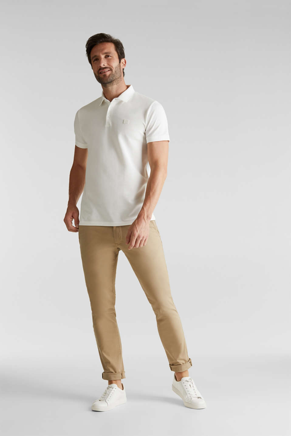 Piqué polo shirt made of 100% pima cotton, OFF WHITE, detail image number 2