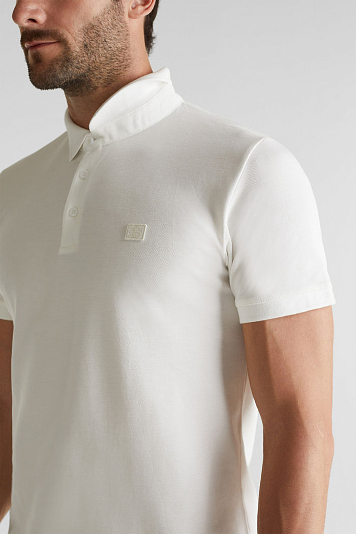 Piqué polo shirt made of 100% pima cotton, OFF WHITE, detail image number 5