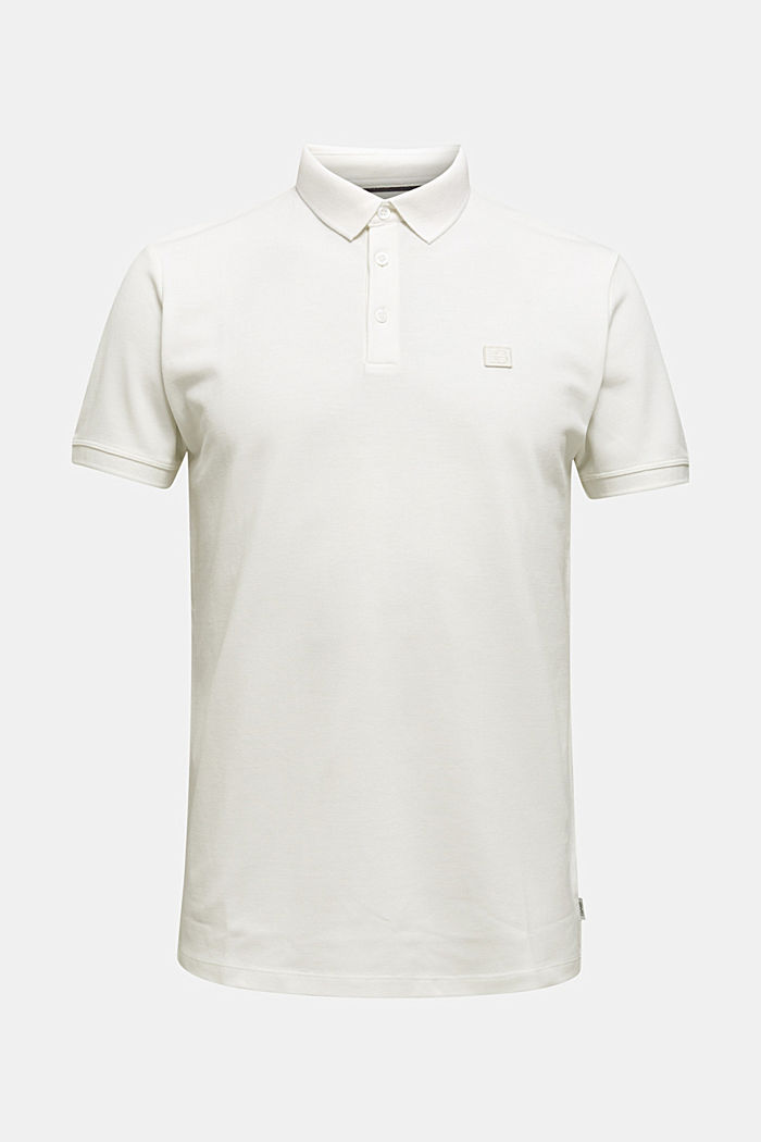 Piqué polo shirt made of 100% pima cotton, OFF WHITE, detail image number 6