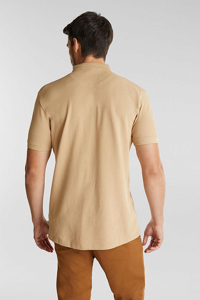 Piqué-Poloshirt aus 100% Pima Cotton, BEIGE, detail image number 3