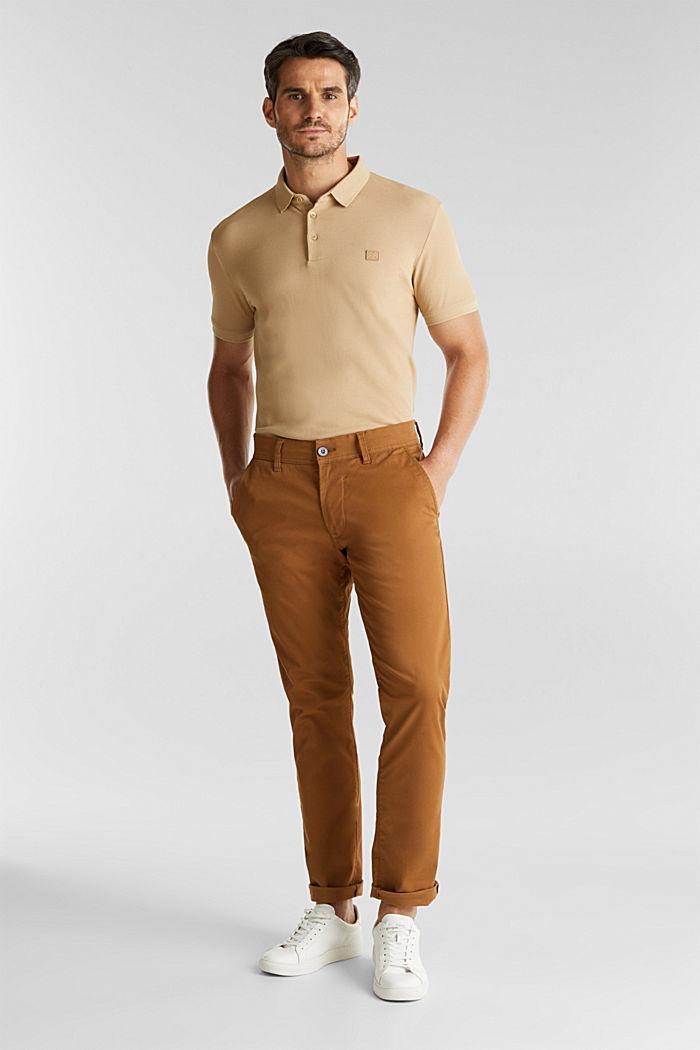 Piqué-Poloshirt aus 100% Pima Cotton, BEIGE, detail image number 2