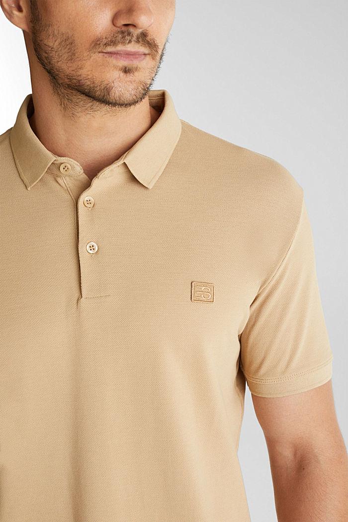 Piqué-Poloshirt aus 100% Pima Cotton, BEIGE, detail image number 1