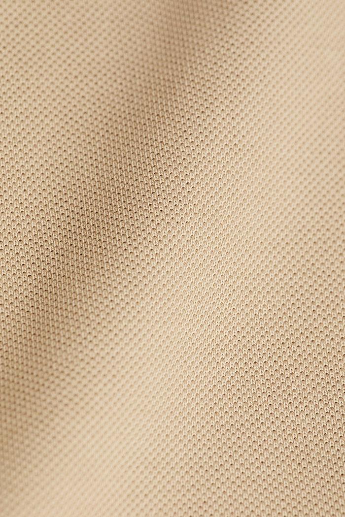Piqué-Poloshirt aus 100% Pima Cotton, BEIGE, detail image number 4