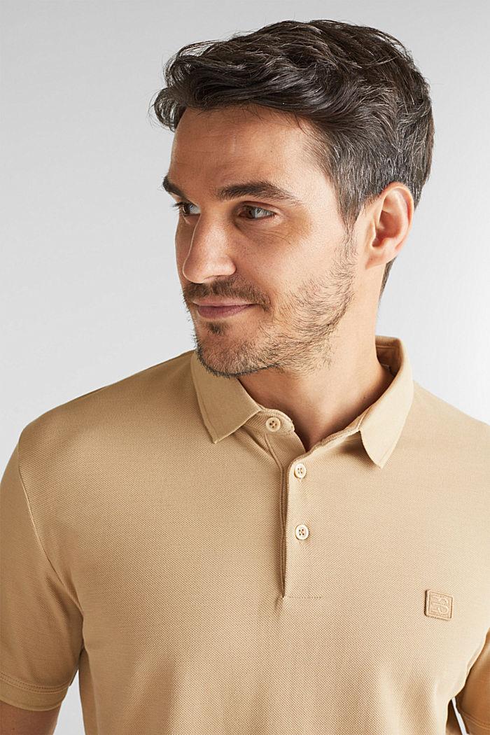 Piqué-Poloshirt aus 100% Pima Cotton, BEIGE, detail image number 5