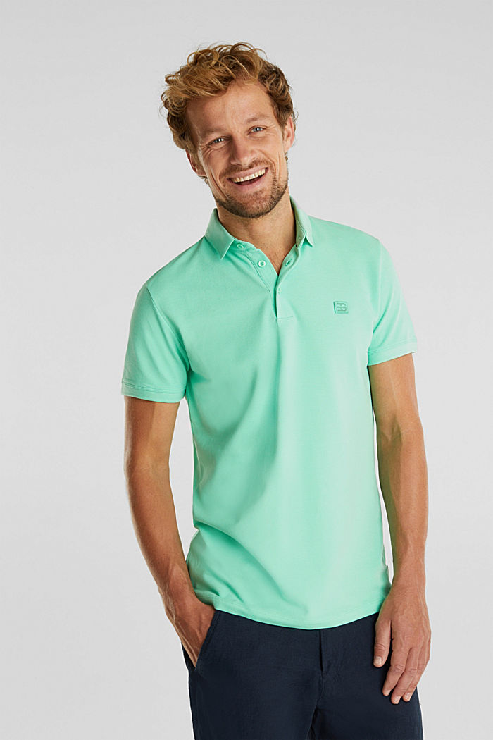 Piqué polo shirt made of 100% pima cotton, LIGHT GREEN, overview