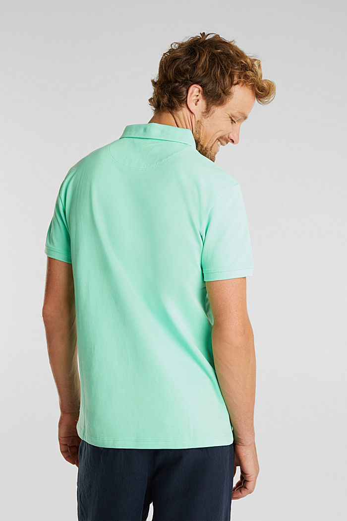 Piqué polo shirt made of 100% pima cotton, LIGHT GREEN, detail image number 3