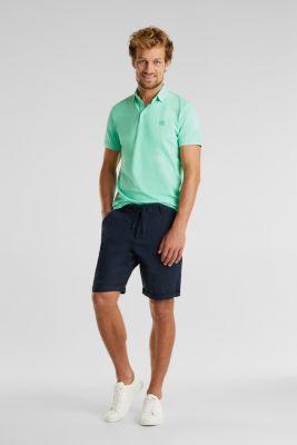 Piqué polo shirt made of 100% pima cotton, LIGHT GREEN, detail