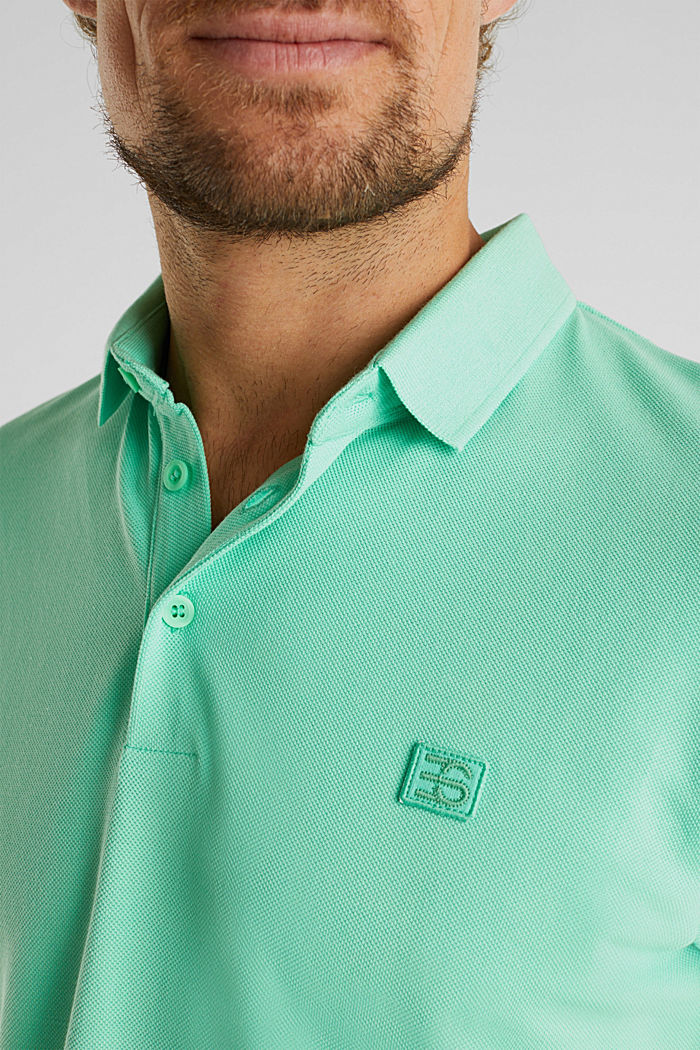 Piqué polo shirt made of 100% pima cotton, LIGHT GREEN, detail image number 1