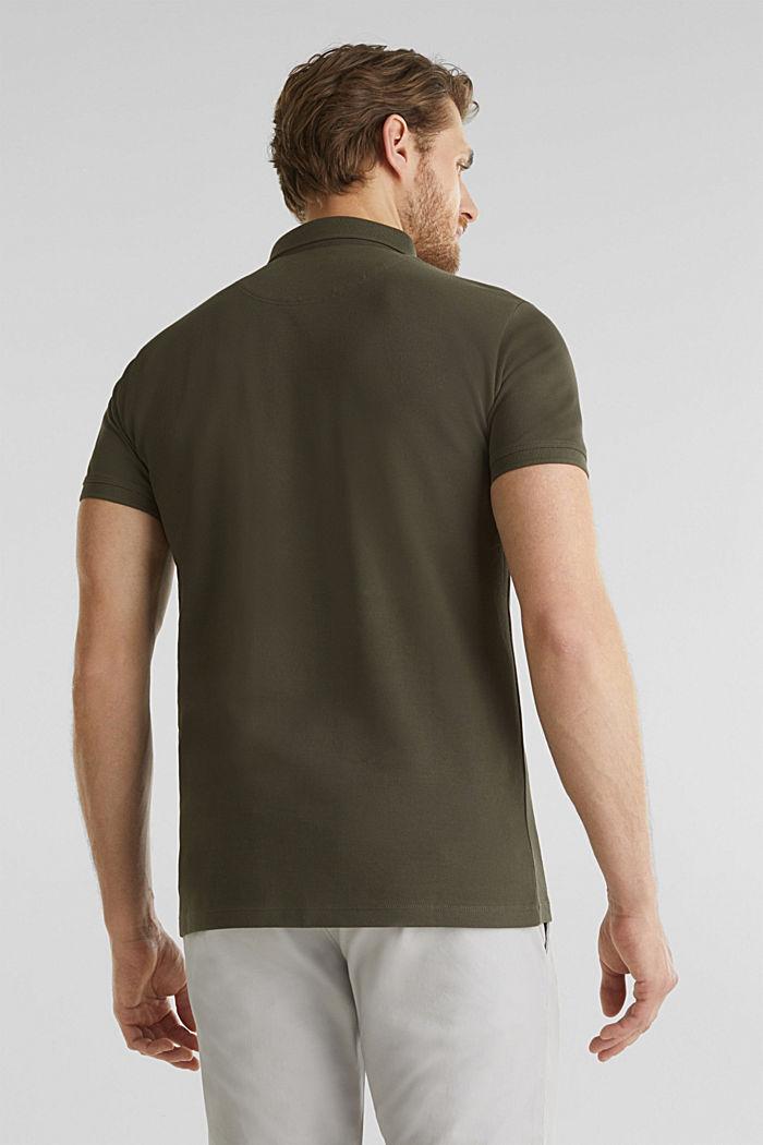 Piqué-Poloshirt aus 100% Pima Cotton, DARK KHAKI, detail image number 3