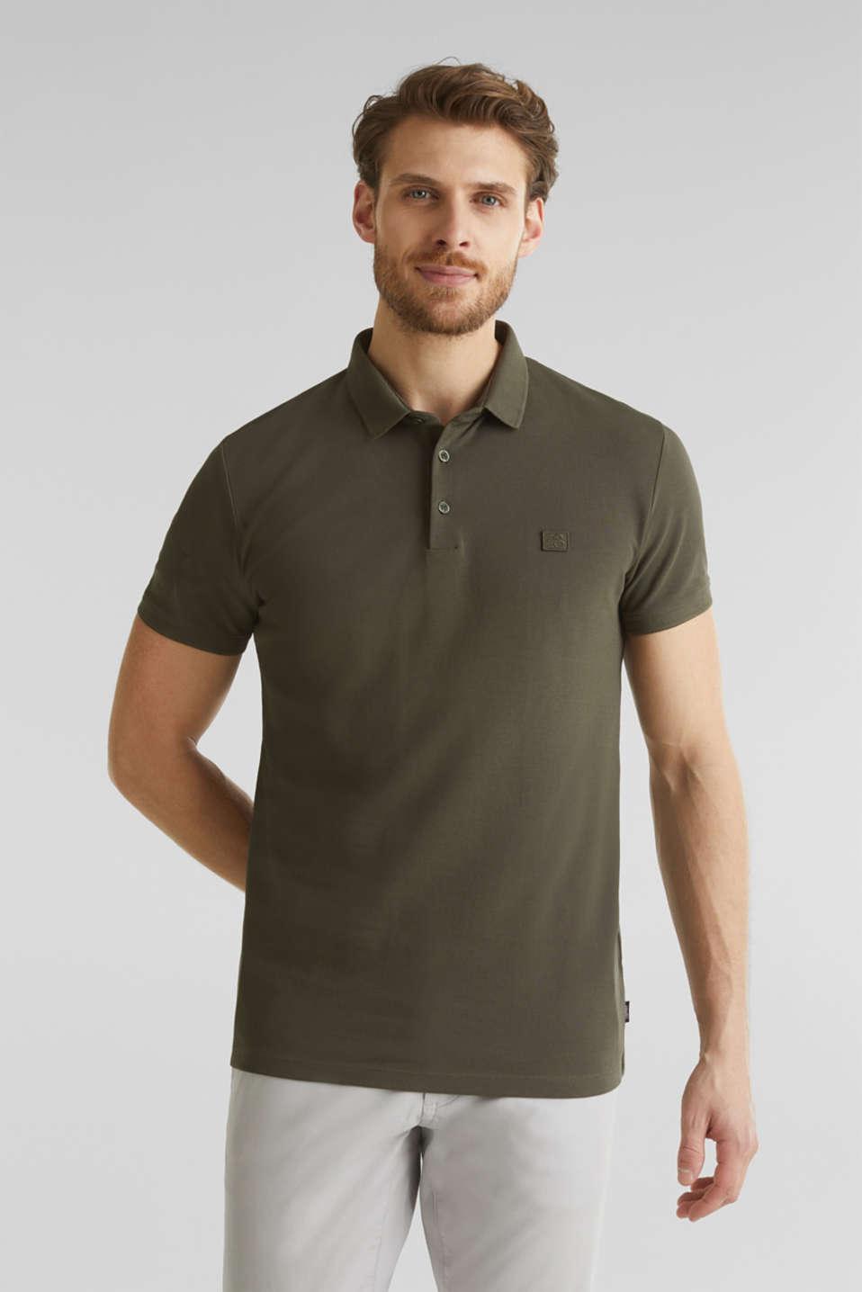 Piqué polo shirt made of 100% pima cotton, DARK KHAKI, detail image number 4
