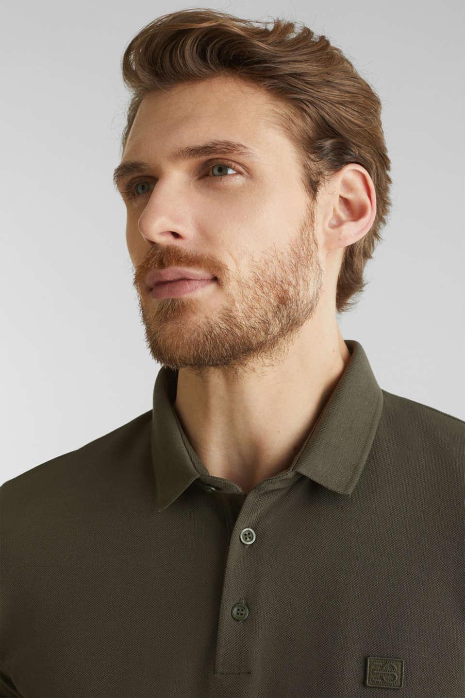 Piqué polo shirt made of 100% pima cotton, DARK KHAKI, detail image number 1