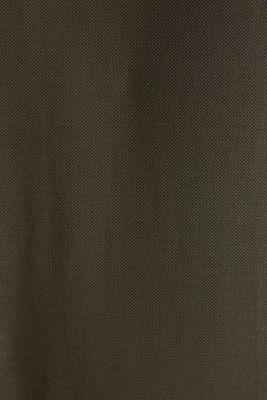 Piqué polo shirt made of 100% pima cotton, DARK KHAKI, detail
