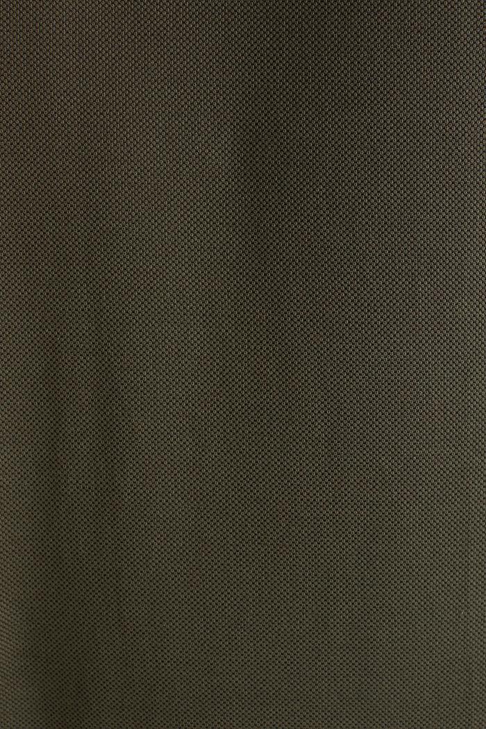 Piqué-Poloshirt aus 100% Pima Cotton, DARK KHAKI, detail image number 5