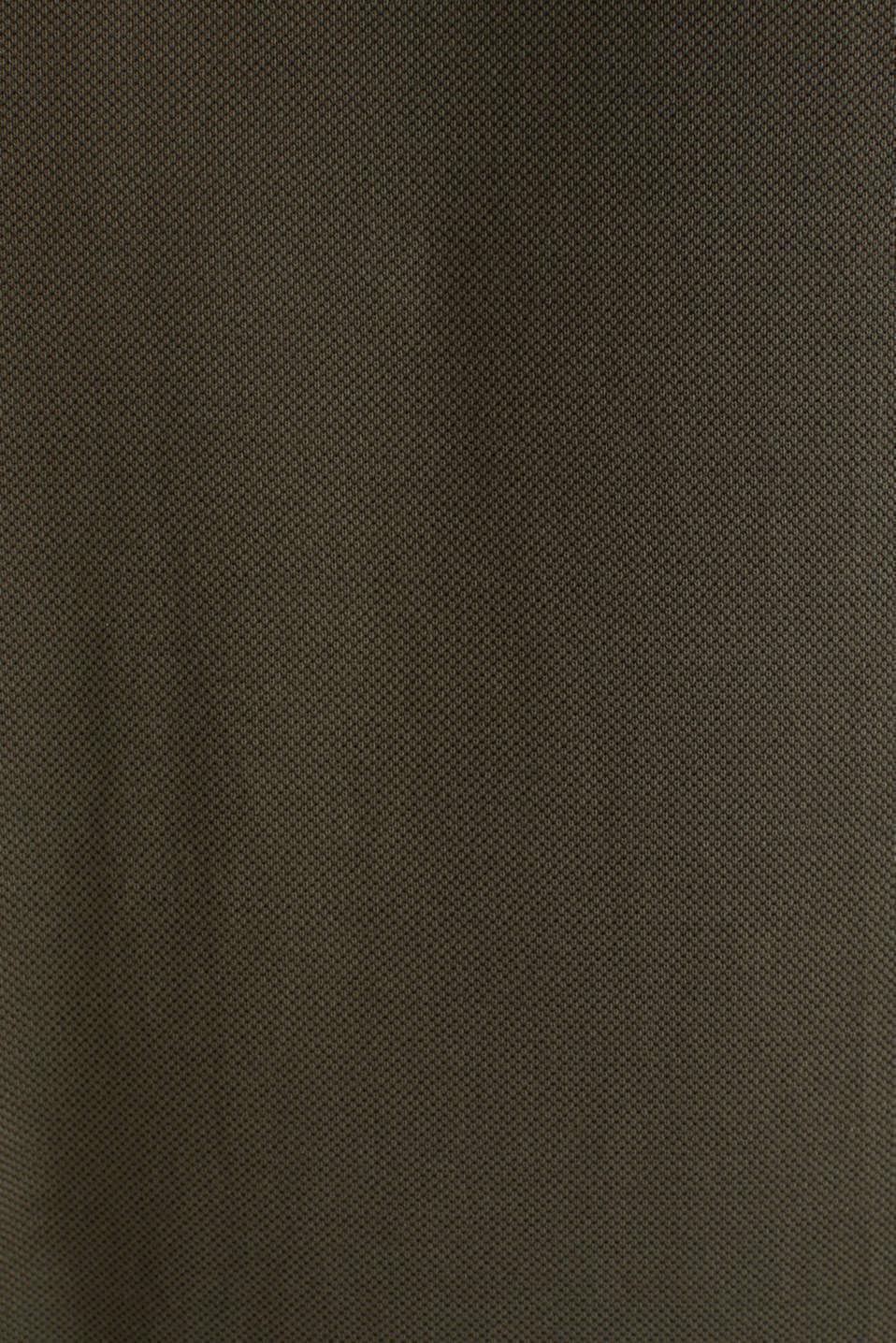 Piqué polo shirt made of 100% pima cotton, DARK KHAKI, detail image number 5