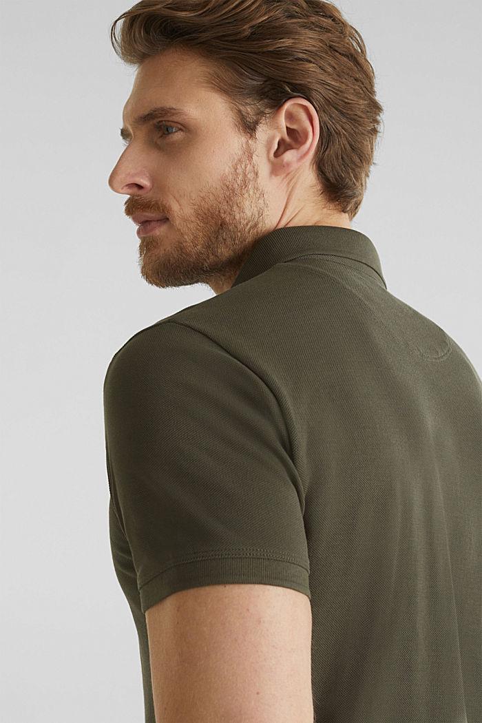 Piqué-Poloshirt aus 100% Pima Cotton, DARK KHAKI, detail image number 6