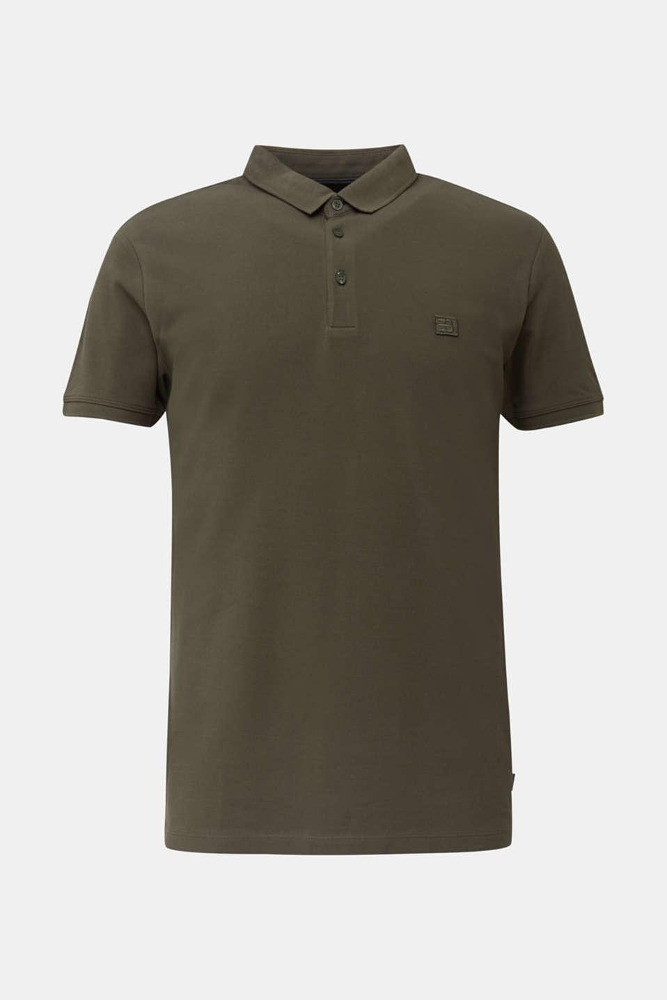 Piqué polo shirt made of 100% pima cotton, DARK KHAKI, detail image number 7
