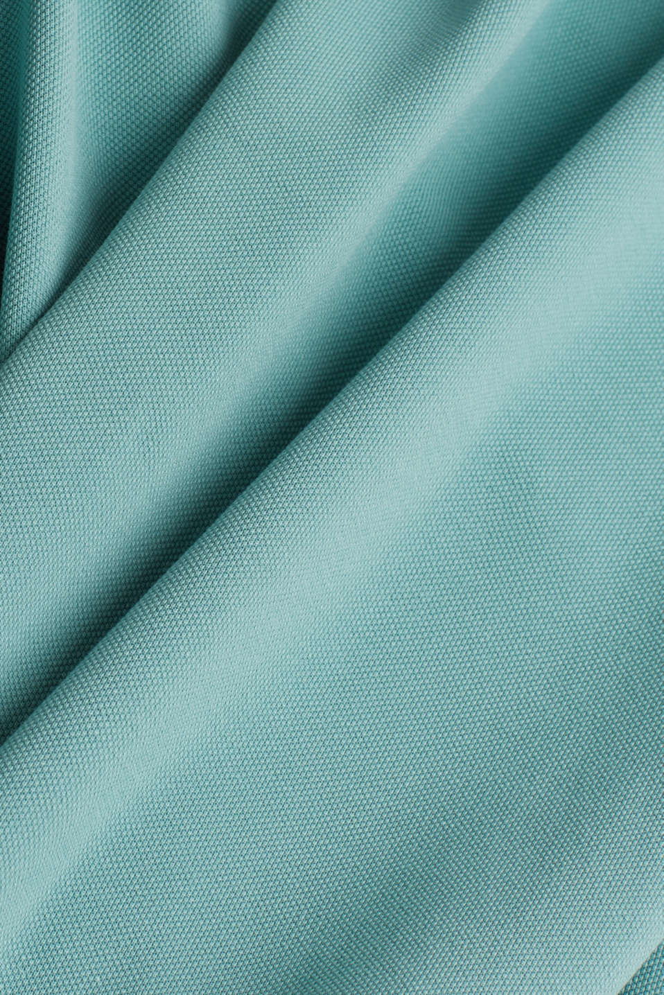 Piqué polo shirt made of 100% pima cotton, TEAL GREEN, detail image number 4