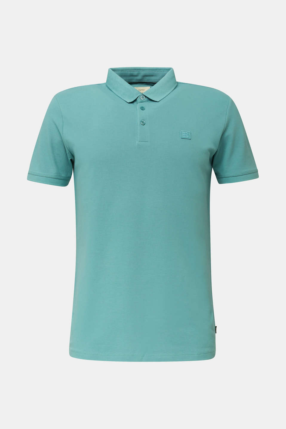 Piqué polo shirt made of 100% pima cotton, TEAL GREEN, detail image number 6