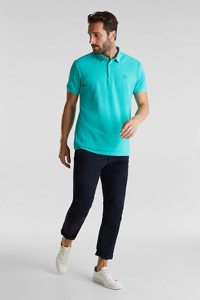 Piqué-Poloshirt aus 100% Pima Cotton, AQUA GREEN, detail image number 2