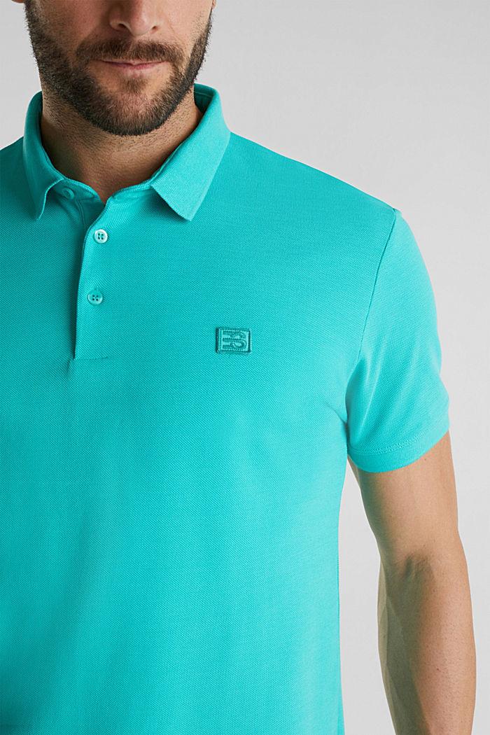 Piqué-Poloshirt aus 100% Pima Cotton, AQUA GREEN, detail image number 1
