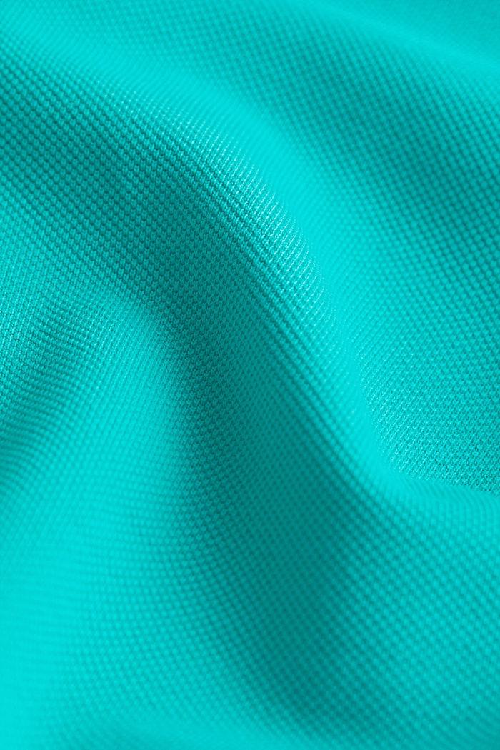 Piqué-Poloshirt aus 100% Pima Cotton, AQUA GREEN, detail image number 4