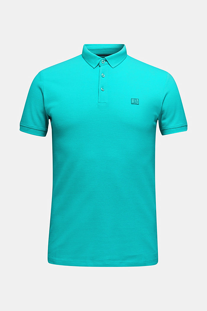 Piqué-Poloshirt aus 100% Pima Cotton, AQUA GREEN, detail image number 5