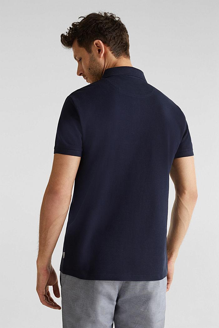 Piqué-Poloshirt aus 100% Pima Cotton, NAVY, detail image number 2