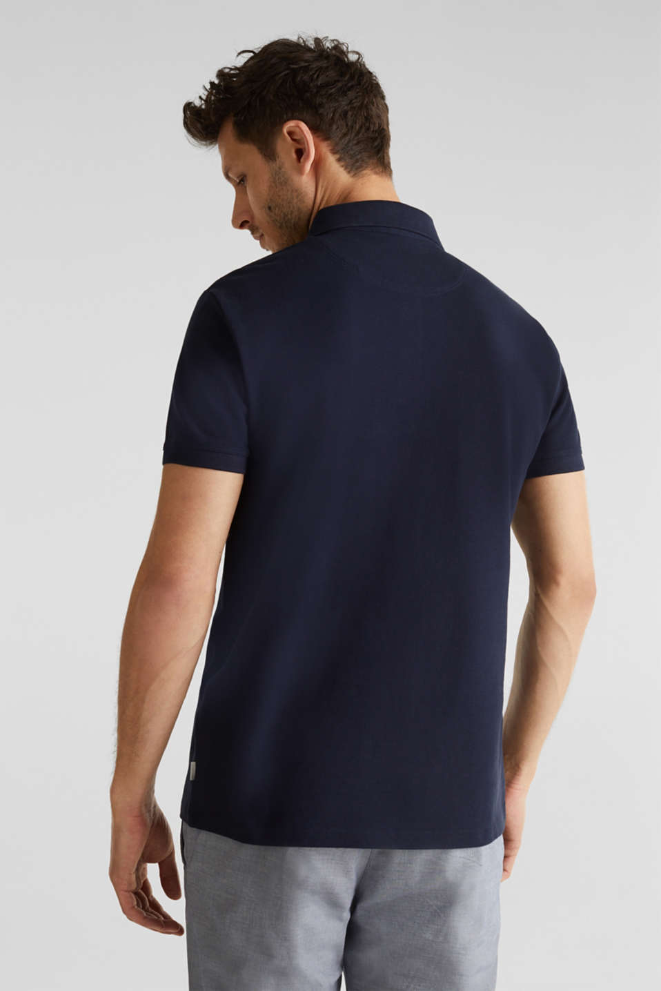 Piqué polo shirt made of 100% pima cotton, NAVY, detail image number 2