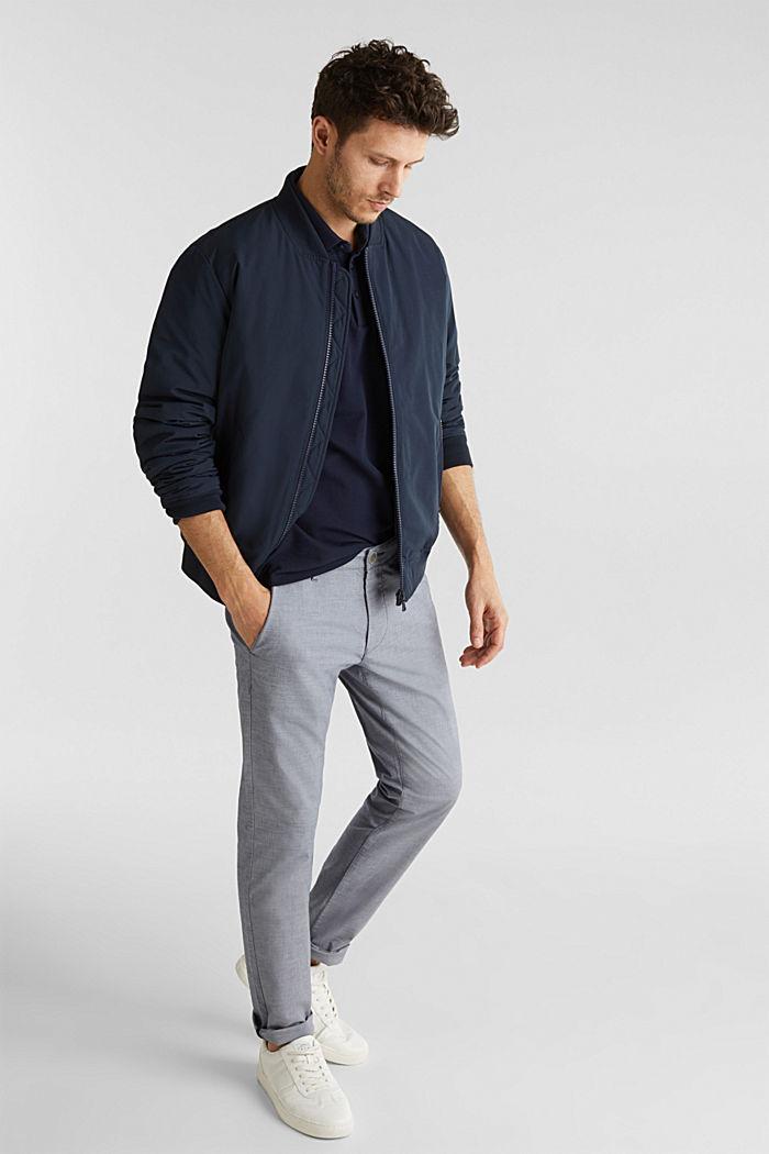 Piqué-Poloshirt aus 100% Pima Cotton, NAVY, detail image number 1