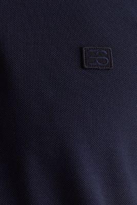 Piqué polo shirt made of 100% pima cotton, NAVY, detail