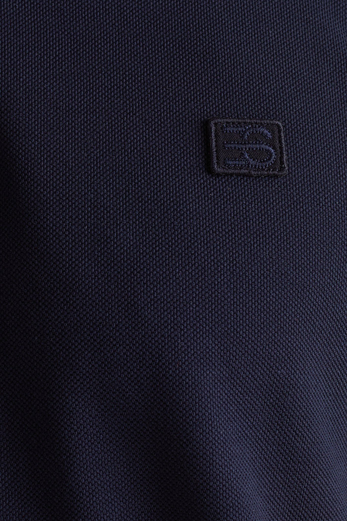 Piqué polo shirt made of 100% pima cotton, NAVY, detail image number 3