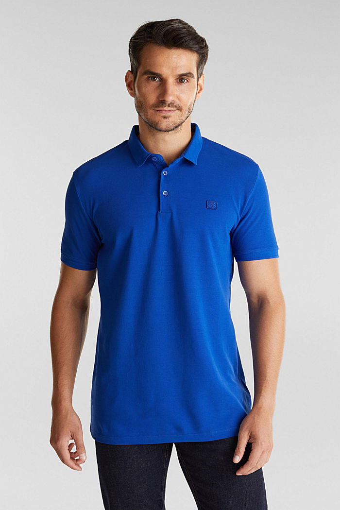 Piqué polo shirt made of 100% pima cotton, BRIGHT BLUE, detail image number 0