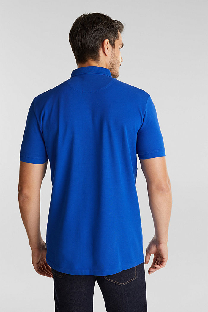 Piqué polo shirt made of 100% pima cotton, BRIGHT BLUE, detail image number 3