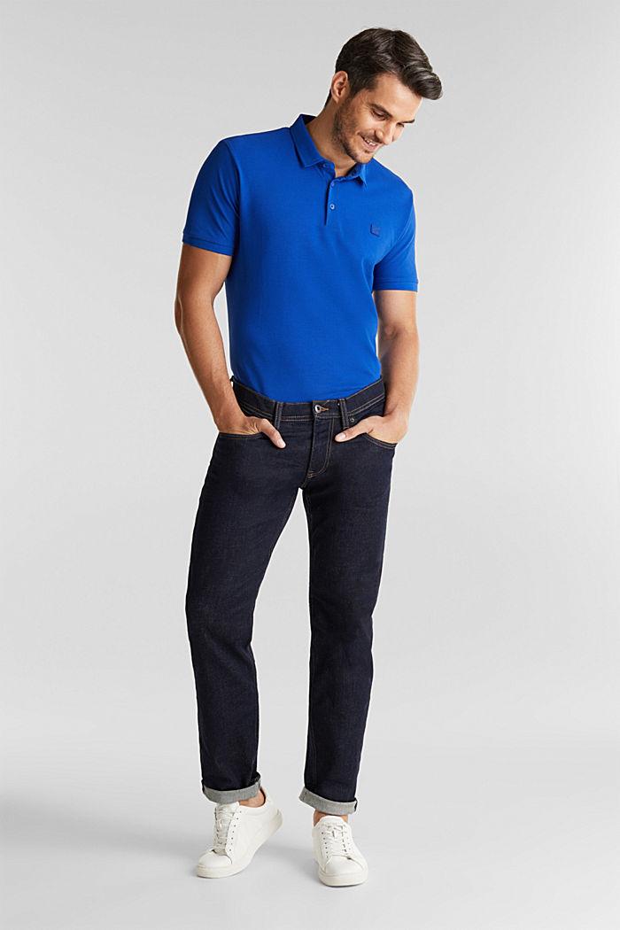 Piqué-Poloshirt aus 100% Pima Cotton, BRIGHT BLUE, detail image number 2