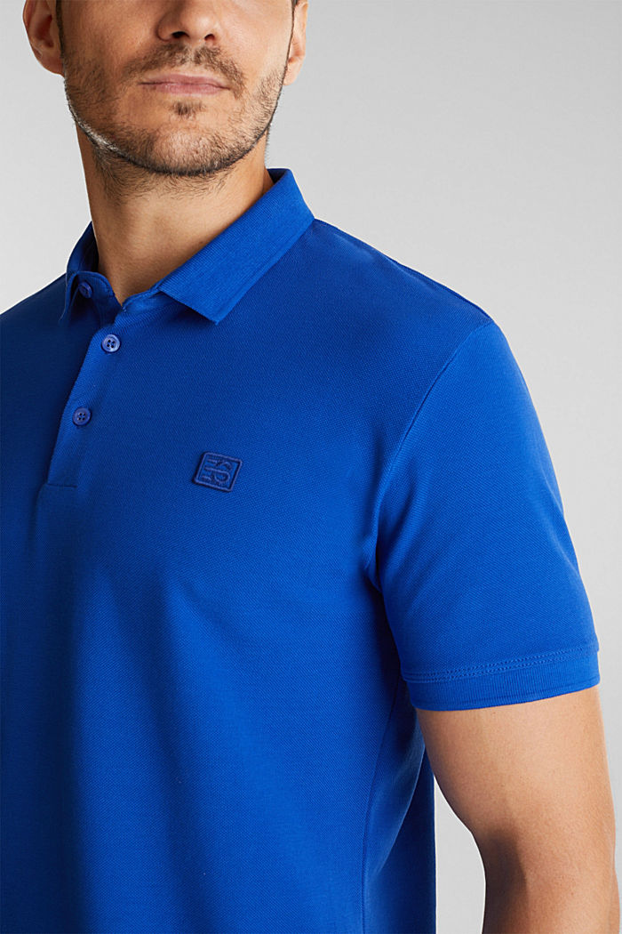 Piqué polo shirt made of 100% pima cotton, BRIGHT BLUE, detail image number 1