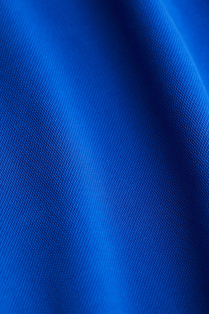 Piqué polo shirt made of 100% pima cotton, BRIGHT BLUE, detail image number 4