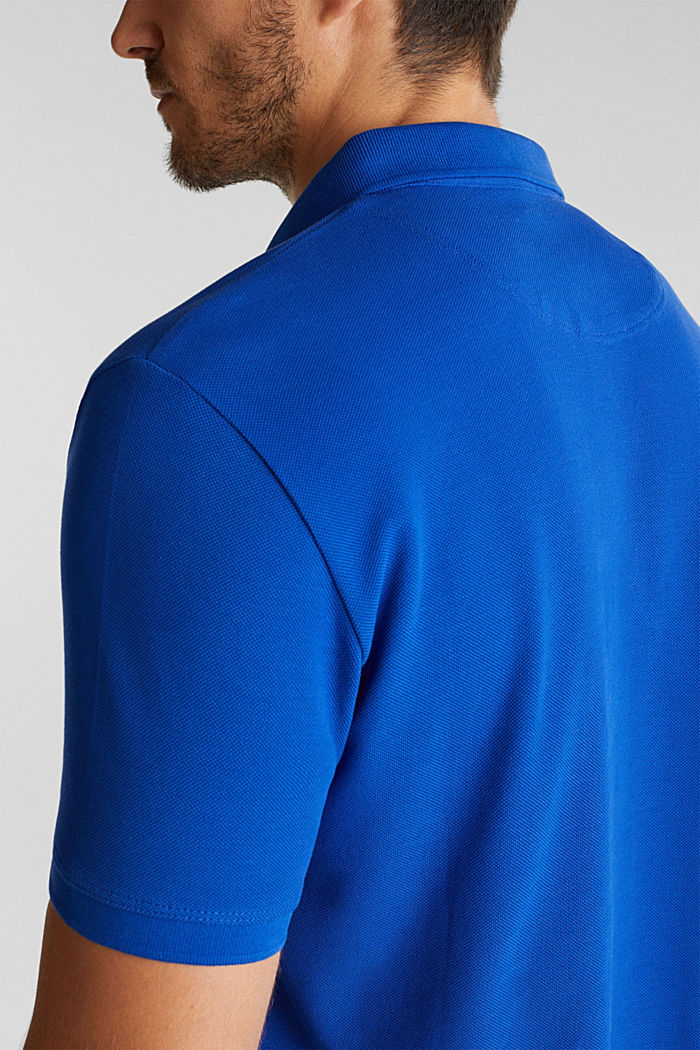Piqué polo shirt made of 100% pima cotton, BRIGHT BLUE, detail image number 5