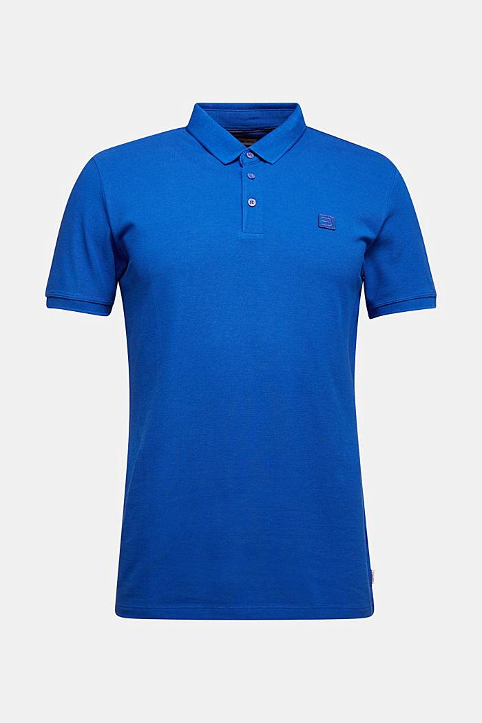 Piqué-Poloshirt aus 100% Pima Cotton, BRIGHT BLUE, detail image number 6