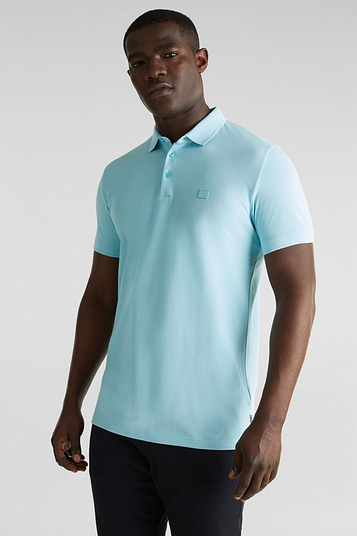 Piqué polo shirt made of 100% pima cotton, PASTEL BLUE, detail image number 0