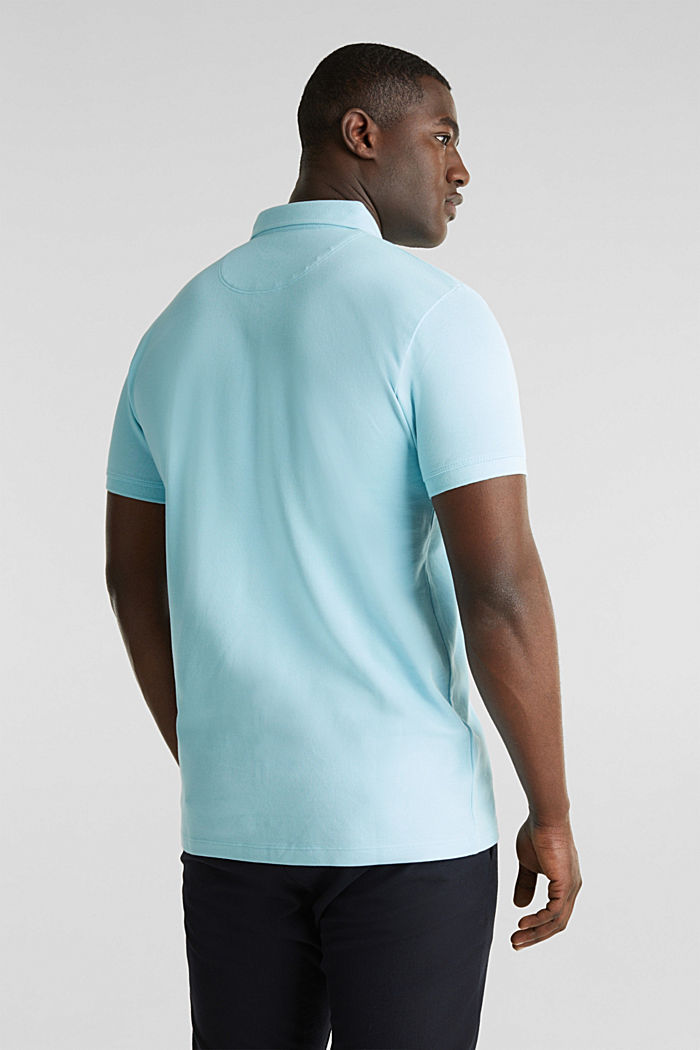 Piqué polo shirt made of 100% pima cotton, PASTEL BLUE, detail image number 3