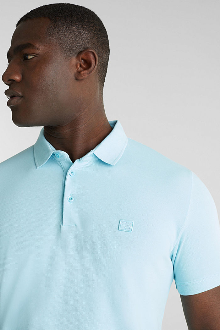 Piqué polo shirt made of 100% pima cotton, PASTEL BLUE, detail image number 1