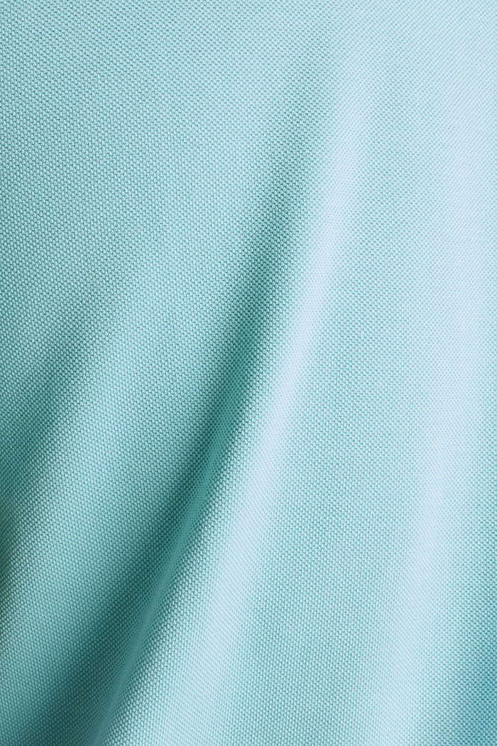 Piqué polo shirt made of 100% pima cotton, PASTEL BLUE, detail image number 4