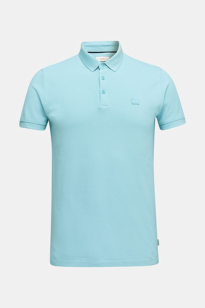 Piqué polo shirt made of 100% pima cotton, PASTEL BLUE, detail image number 6