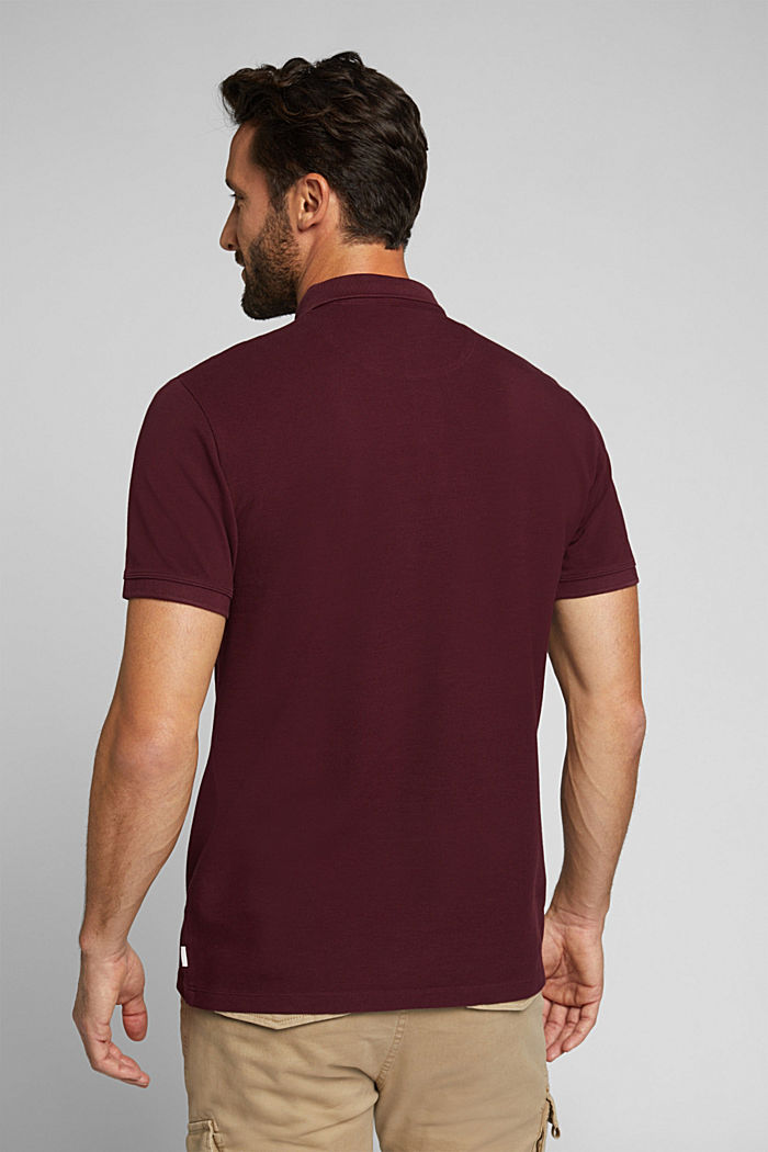 Piqué polo shirt made of 100% pima cotton, DARK RED, detail image number 3