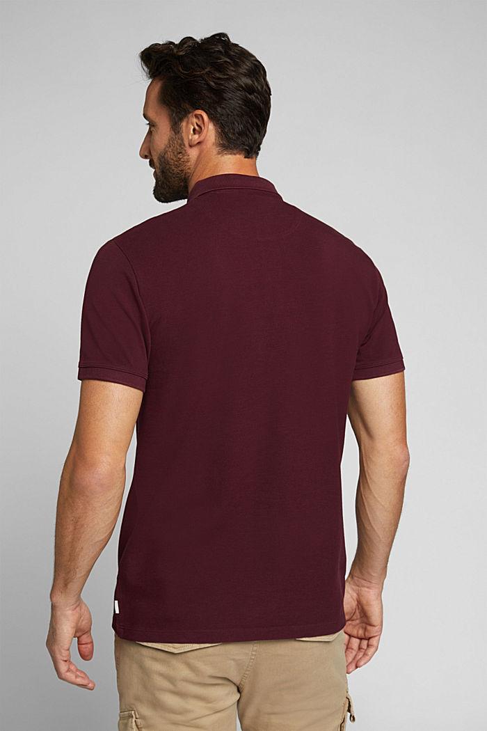 Piqué-Poloshirt aus 100% Pima Cotton, DARK RED, detail image number 3
