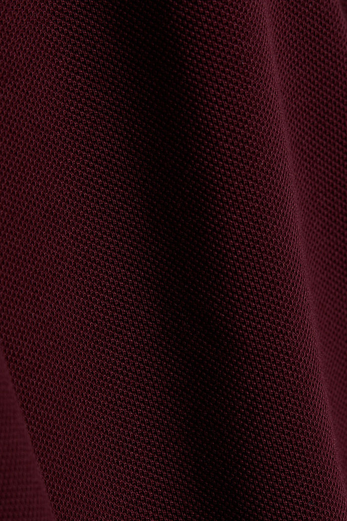 Piqué polo shirt made of 100% pima cotton, DARK RED, detail image number 4